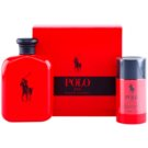 Ralph Lauren Polo Red darilni set III. toaletna voda 125 ml + Deo-Stick 75 ml