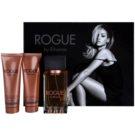 Rihanna Rogue lote de regalo I. eau de parfum 125 ml + leche corporal 90 ml + gel de ducha 90 ml