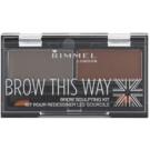 Rimmel Brow This Way Palette zum schminken der Augenbrauen Dark Brown 2,4 g