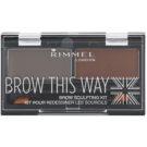 Rimmel Brow This Way paleta de maquillaje para cejas Dark Brown 2,4 g