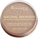 Rimmel Natural Bronzer vízálló bronzosító púder SPF 15 árnyalat 022 Sun Bronze 14 g