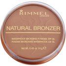 Rimmel Natural Bronzer polvos resistentes al agua efecto bronceado SPF 15 tono 021 Sun Light 14 g
