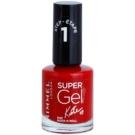 Rimmel Super Gel By Kate Gel Nail Varnish without UV/LED Sealing Color 042 Rock n Roll 12 ml