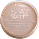 Rimmel Stay Matte pudra culoare 001 Transparent (Long Lasting Pressed Powder) 14 g