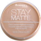 Rimmel Stay Matte pudr odstín 005 Silky Beige (Long Lasting Pressed Powder) 14 g