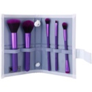 Royal and Langnickel Moda Perfect Mineral set de pincéis Purple (Professional Makeup Brush Set) 6 un.