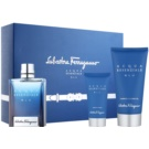 Salvatore Ferragamo Acqua Essenziale Blu Geschenkset IV. Eau de Toilette 100 ml + Duschgel 150 ml + After Shave Balsam 50 ml