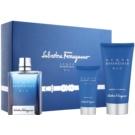 Salvatore Ferragamo Acqua Essenziale Blu lote de regalo IV.  eau de toilette 100 ml + gel de ducha 150 ml + bálsamo after shave 50 ml