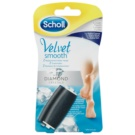 Scholl Velvet Smooth Replacement Heads For Electronic Foot File 2 pcs (1x Soft + 1x Extra Fort with Diamond Crystals) 2 pc