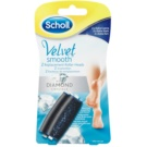 Scholl Velvet Smooth Replacement Heads For Electronic Foot File 2 pcs (2x Extra Fort with Diamond Crystals)