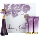 Selena Gomez Selena Gomez подарунковий набір ІІ  Парфумована вода 100 ml + молочко для тіла з блискітками 120 ml + Гель для душу 120 ml + Блиск для губ 15 g