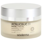 Sesderma Acglicolic 20 Facial Nourishing Rejuvenating Cream For Dry To Very Dry Skin (Nanotech, AHA, 15% Glycolic Acid) 50 ml