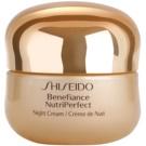 Shiseido Benefiance NutriPerfect revitalisierende Nachtcreme gegen Falten  50 ml