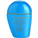 Shiseido Sun Foundation fard lichid rezistent la apa SPF 30 culoare Medium Ivory  30 ml