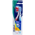 Signal Super Clean periuta de dinti Medium 2 pc Red & Blue (Deep Cleaninig V-Bristles)