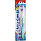 SilverCare H2O antibakterielle Zahnbürste mit Wechselkopf hart Blue & Green (Structured Bristles)