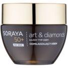 Soraya Art & Diamonds crema de noche rejuvenecedora con polvo de diamante 50+  50 ml
