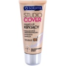 Soraya Studio Cover acoperire make-up cu vitamina E culoare 03 Natural (Long Lasting, Covers Imperfections, Smoothes and Moisturizes) 30 ml