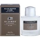 St. James Of London Black Pepper & Persian Lime gel de barbear para homens 100 ml
