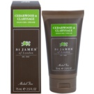 St. James Of London Cedarwood & Clarysage creme de barbear para homens 75 ml  cestovní balení