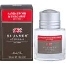 St. James Of London Sandalwood & Bergamot Eau de Cologne para homens 50 ml