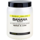 Stapiz Basic Salon Banana Restoring Mask For Damaged Hair (The Formula Contains Wheat, Almond and Silk Proteins, Thanks to which it Eectively Nourishes and Regenerates Hair.) 1000 ml