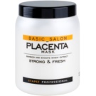 Stapiz Basic Salon Placenta Hydrating Mask For Brittle And Stressed Hair (Perfectly Moisturizes and Adds Elasticity to Hair.) 1000 ml