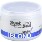 Stapiz Sleek Line Blond Maske für blonde und graue Haare (Special Formula Provides Hair with Platinum Tint) 250 ml