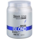 Stapiz Sleek Line Blond Maske für blonde und graue Haare (Special Formula Provides Hair with Platinum Tint) 1000 ml
