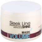 Stapiz Sleek Line Volume hydratační maska pro jemné a zplihlé vlasy (Moisturizes Without Making Heavy. Provides Increase of Density, Softness and Thickness of the Hair Fibers.) 250 ml