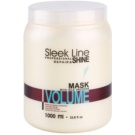 Stapiz Sleek Line Volume Hydratisierende Maske für sanfte und müde Haare (Moisturizes Without Making Heavy. Provides Increase of Density, Softness and Thickness of the Hair Fibers.) 1000 ml