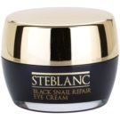 Steblanc Black Snail Repair krema za predel okoli oči s polžjim ekstraktom (Contining of Snail Secretion Filtrate 80 %) 30 ml