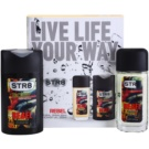 STR8 Rebel set cadou VI. Deodorant spray 85 ml + Gel de dus 250 ml