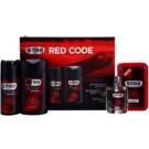 STR8 Red Code lote de regalo III. loción after shave 50 ml + gel de ducha 250 ml + desodorante en spray 150 ml