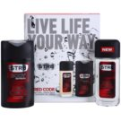 STR8 Red Code set cadou IV. Deodorant spray 85 ml + Gel de dus 250 ml