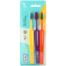 TePe Colour Soft Toothbrushes, 3 pcs Yellow & Violet & Orange (Easy Access - Efficient Cleaning)