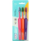 TePe Colour Soft Toothbrushes, 3 pcs Pink & Orange & Violet (Easy Access - Efficient Cleaning)