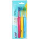 TePe Colour Soft Toothbrushes, 3 pcs Pink & Yellow & Blue (Easy Access - Efficient Cleaning)