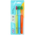 TePe Colour Soft Toothbrushes, 3 pcs Light Green & Blue & Orange (Easy Access - Efficient Cleaning)