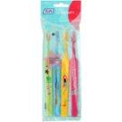 TePe Kids zubní kartáčky pro děti extra soft 4 ks Light Green & Light Blue & Yellow & Pink (Small Toothbrush with Tapered Brush Head)