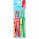 TePe Kids zubní kartáčky pro děti extra soft 4 ks Orange & Pink & Light Green & Dark Green (Small Toothbrush with Tapered Brush Head)