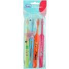 TePe Kids zubní kartáčky pro děti extra soft 4 ks Light Green & Light Blue & Orange & Pink (Small Toothbrush with Tapered Brush Head)