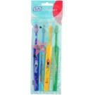TePe Kids zubní kartáčky pro děti extra soft 4 ks Dark Blue & Light Blue & Yellow & Dark Green (Small Toothbrush with Tapered Brush Head)