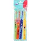 TePe Kids zubní kartáčky pro děti extra soft 4 ks Light Green & Orange & Dark Blue & Yellow (Small Toothbrush with Tapered Brush Head)