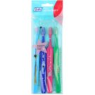 TePe Kids zubní kartáčky pro děti extra soft 4 ks Light Blue & Dark Blue & Pink & Dark Green (Small Toothbrush with Tapered Brush Head)