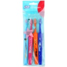 TePe Kids zubní kartáčky pro děti extra soft 4 ks Light Blue & Pink & Orange & Dark Blue (Small Toothbrush with Tapered Brush Head)