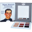 theBalm Meet Matte(e) Trimony paleta de sombras de ojos con un espejo pequeño (Matte Eyeshadow Palette) 21,6 g