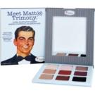 theBalm Meet Matte(e) Trimony палитра от сенки за очи с малко огледало  21,6 гр.