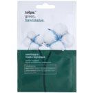 Tołpa Green Moisturizing nyugtató és hidratáló maszk Cotton, Iris, Shea Butter, Kokum Butter, Olive Oil (Hypoallergenic) 2 x 6 ml