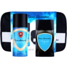 Tonino Lamborghini Acqua set cadou Apa de Toaleta 100 ml + Deo-Spray 150 ml + geanta cosmetice